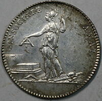 1790S ROYAL ACADEMY OF ARCHITECTS LOUIS XVI FRANCE SILVER JETON 29MM 16070721R