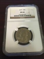 1977 WASHINGTON QUARTER NGC MS 66