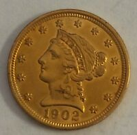 1902 LIBERTY HEAD $2.50 GOLD PIECE MS 2 1/2 QUARTER EAGLE