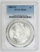 1883 CC MORGAN SILVER DOLLAR MS 66 PCGS 5734