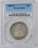 1850 O 50C LIBERTY SEATED HALF DOLLAR PCGS XF 40 EXTRA FINE