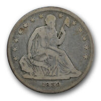 1839 50C NO DRAPERY LIBERTY SEATED HALF DOLLAR GOOD VG R1409