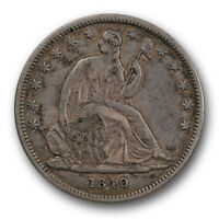 1840 SMALL DATE LIBERTY SEATED HALF DOLLAR EXTRA FINE XF ORIGINAL CRUSTY R1412