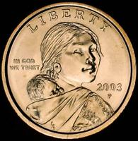 2003 P CHOICE BU SACAGAWEA/NA DOLLAR   BEST VALUE @ CHERRYPICKERCOINS