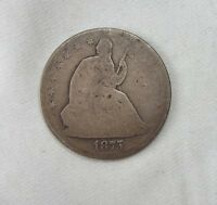 1875 LIBERTY SEATED HALF DOLLAR AG SILVER 50C