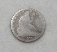 1875 LIBERTY SEATED HALF DOLLAR AG SILVER 1/2 $