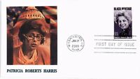 DR JIM STAMPS US PATRICIA ROBERTS HARRIS BLACK HERITAGE FDC COVER 2000