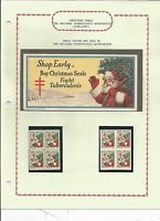 1930 CHRISTMAS SEALS SPECIALIZED COLLECTION W/PRINTER'S COLOR PROGRESSION