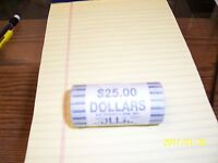 2000 D UNC BANK WRAPPED ROLL OF 25 SACAGAWEA NATIVE AMERICAN $1 DOLLAR COINS