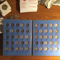 60 DIFFERENT MERCURY DIMES IN BLUE WHITMAN FOLDER OLD HOARD 1917 TO 1945