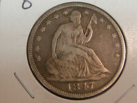 1847 O NEW ORLEANS MINT SEATED LIBERTY HALF DOLLAR VG