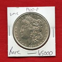 1900 MORGAN US SILVER DOLLAR 65000 BRILLIANT UNCIRCULATED MS MINT STATE ESTATE