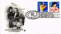 DR JIM STAMPS US DEAF COMMUNICATION FIRST DAY COVER DUAL FRANKED 1993
