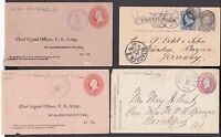 US 1880 - 1882 -  4 COVERS - POST CARD - LOOK