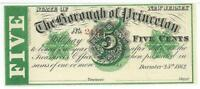 NEW JERSEY BOROUGH PRINCETON 5 CENTS CHRISTMAS DAY 1862 GREEN OVERPRINT 2114