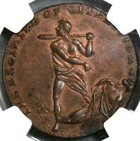 1790S NGC MS 63 SPENCE CAIN & ABEL CONDER 1/2 PENNY MIDDLESEX DH 768 16112407C
