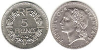 FRANCE 1933A & 1935A NICKEL 5 FRANCS KM888 BU