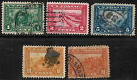 US 397,398,399,400,400A PANAMA-PACIFIC EXPO USED SET OF 5 STAMPS