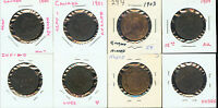 CANADA 4 LARGE CENTS 1900   1904 3G196 SUPERIOR HI GRADES