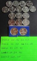 {17} UNCIRCULATED STATE QUARTERS SET 1999 D  2002 D  2007 P WYOMING & UTAH
