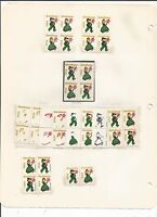 1956 CHRISTMAS SEALS PRINTERS PROGRESSION COLOR PROOF & VARIETY COLLECTION