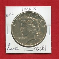1926 S PEACE SILVER DOLLAR 72561 BRILLIANT UNCIRCULATED MS US MINT STATE ESTATE