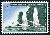 SCOTTRW33 $3 FEDERAL DUCK MINT NH OG NEVER HINGED WELL CENTER