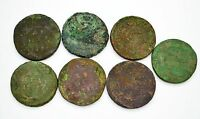 RUSSIAN IMPERIAL COPPER COINS DENGA 1730 1754