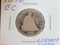 1876 CC SEATED LIBERTY QUARTER 90 SILVER U.S. COIN C1812