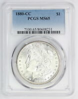 1880 CC MORGAN SILVER DOLLAR MS 65 PCGS 8231