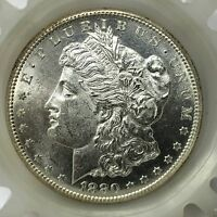 1880 S MORGAN SILVER DOLLAR BEUTY FROM ROLL FROSTY SATIN LUSTER A2973