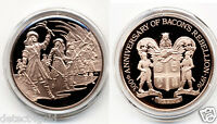NATHANIEL BACON'S REBELLION 1676 1976 COMMEMORATIVE PROOF BRONZE COIN MEDAL