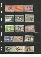 US FEDERAL DUCK STAMP COLLECTION, BOTH MINT AN USED