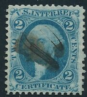 DR JIM STAMPS OLD US REVENUE SCOTT R7 2C CERTIFICATE USED NO RESERVE