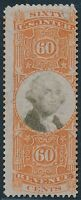 DR JIM STAMPS OLD US REVENUE SCOTT R142 60C DOCUMENTARY USED NO RESERVE