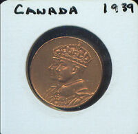 VINTAGE 1939 THE DOMINION OF CANADA HRH KING GEORGE 2M741