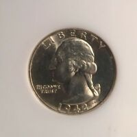 BU 1942 D WASHINGTON QUARTER COIN 90 SILVER