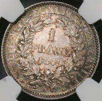 1849 A NGC MS 62 FRANCE SILVER 1 FRANC CERES COIN 16103102C