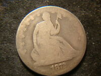 1872 CC FULL DATE SEATED  LIBERTY HALF DOLLAR DECENT LOOKING COIN