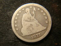 1877 CC FULL DATE SEATED  LIBERTY QUARTER DOLLAR DECENT LOOKING COIN