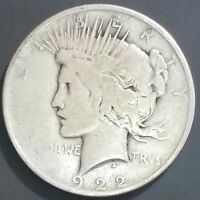 1922 PEACE SILVER DOLLAR   WILL COMBINE SHIPPING