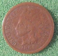 KEY DATE 1864  L INDIAN CENT CIR
