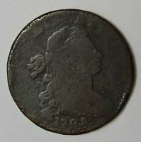 1798 DRAPPED BUST LARGE CENT.  GOOD. BELOW WHOLESALE