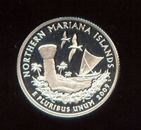 2009 S SILVER PROOF N. MARIANA ISLANDS QUARTER PF 137X