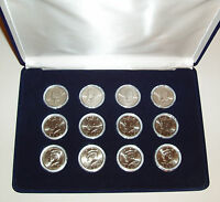 2000   2007 P&D  KENNEDY HALF DOLLAR SET   CASED   12 COINS   FREE USA SHIPPING
