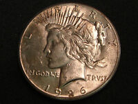 1926 PEACE SILVER DOLLAR  CHOICE AU-UNC