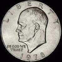 1978 CHOICE BU EISENHOWER DOLLAR - ALL WHITE - BEST VALUE @ CHERRYPICKERCOINS