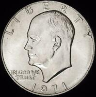 1971 CHOICE BU EISENHOWER DOLLAR - ALL WHITE - BEST VALUE @ CHERRYPICKERCOINS