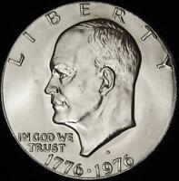 1976-D TY 1 CHOICE BU EISENHOWER DOLLAR - ALL WHITE - VALUE @ CHERRYPICKERCOINS