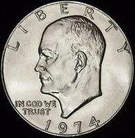 1974 CHOICE BU EISENHOWER DOLLAR - ALL WHITE - BEST VALUE @ CHERRYPICKERCOINS